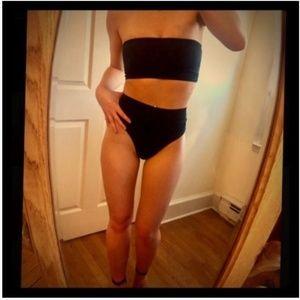 Other - NWT - Solid Brief Bandeau High Waisted Bikini